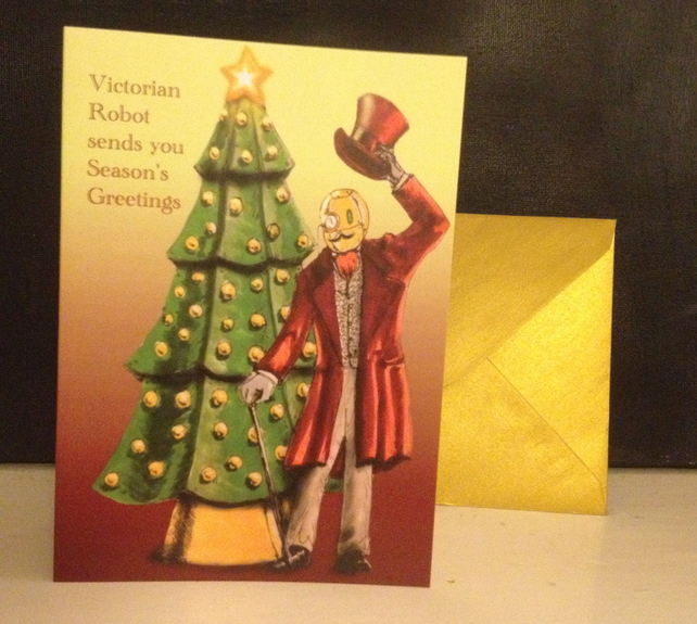 Steampunk Christmas Cards from Comedy Human