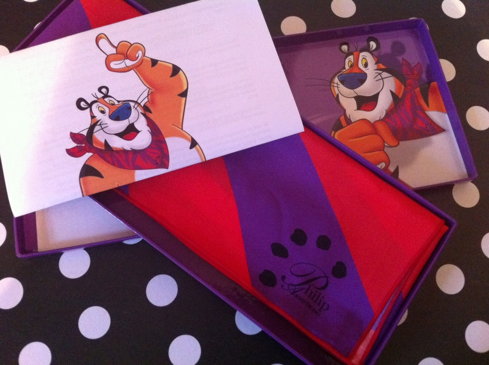 Tony the Tiger's Diamond Jubilee Limited Edition Scarf (it's grrrrrreat etc.)