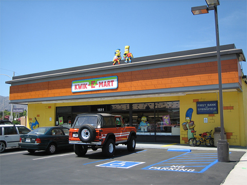 Real Life Kwik-E-Mart with Squishees & Pink Donuts