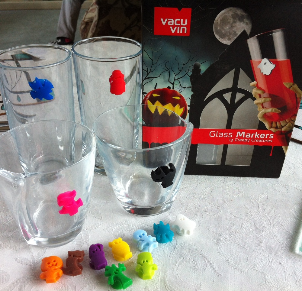 Vacu Vin Spooky Party Wine Glass Markers