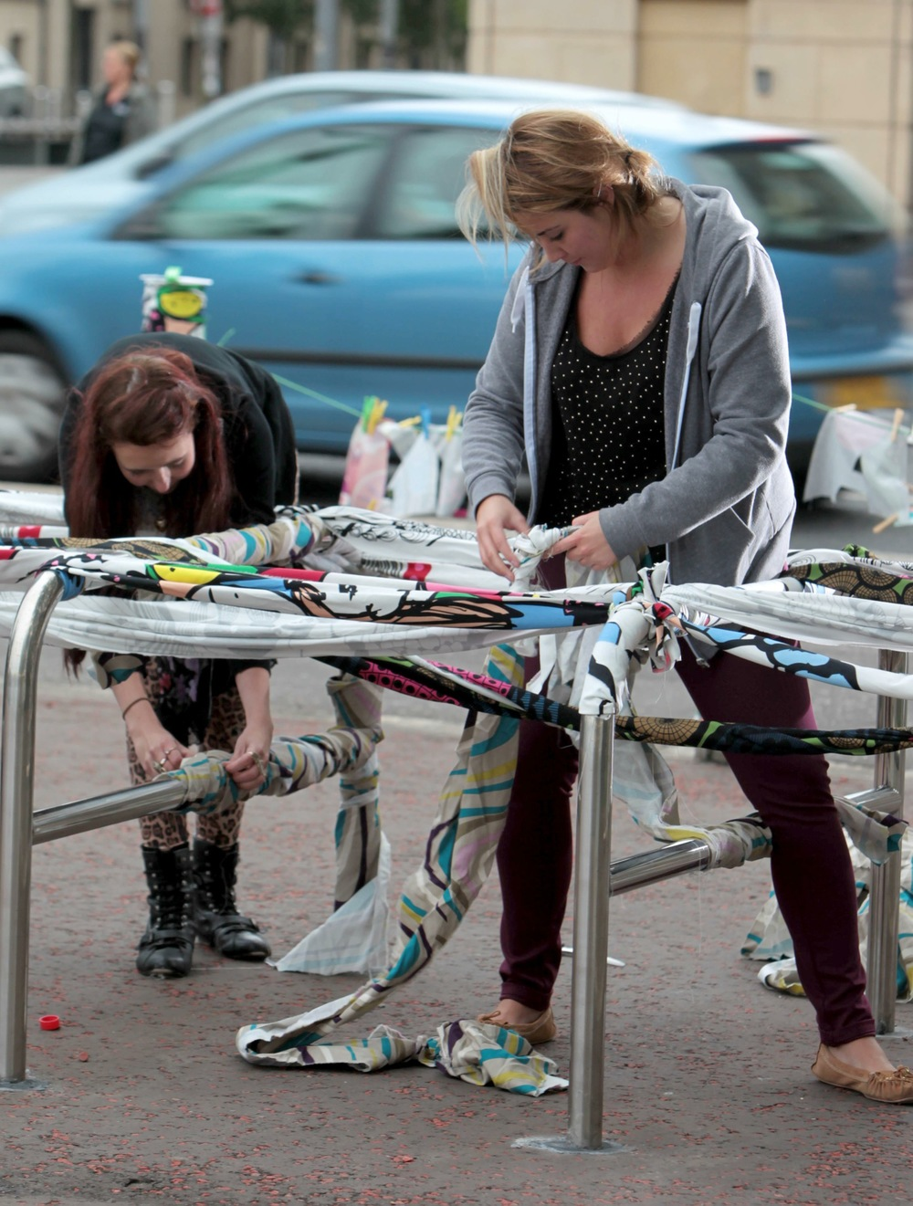 Textile Bombing in Belfast with Ikea & the Art College