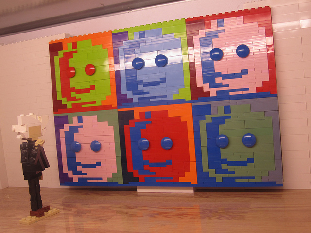 Lego Versions of Warhol Art