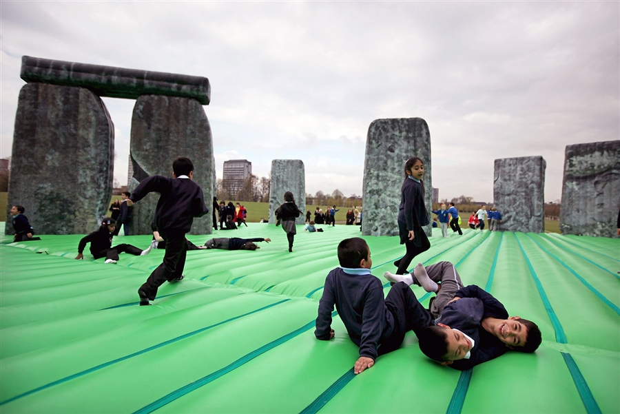 Inflatable Stonehenge Comes To Belfast