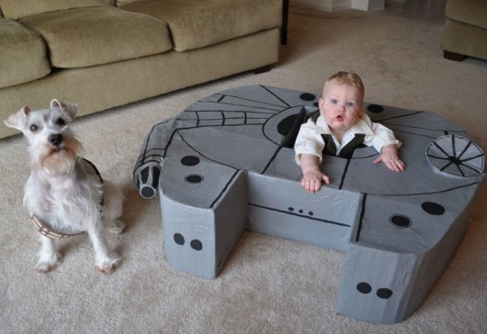 Baby Has its Own Millennium Falcon