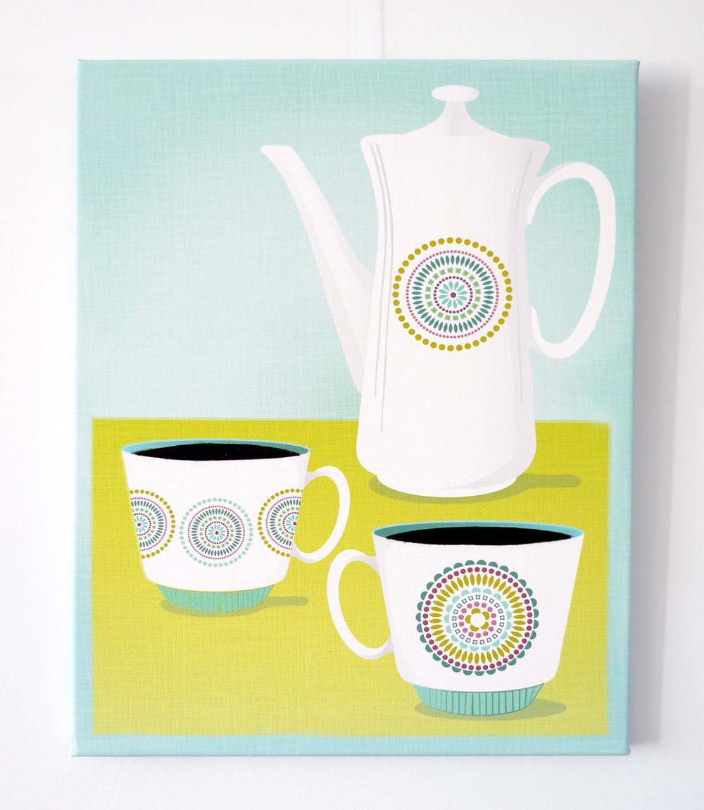 70s' Teapots on Your Wall