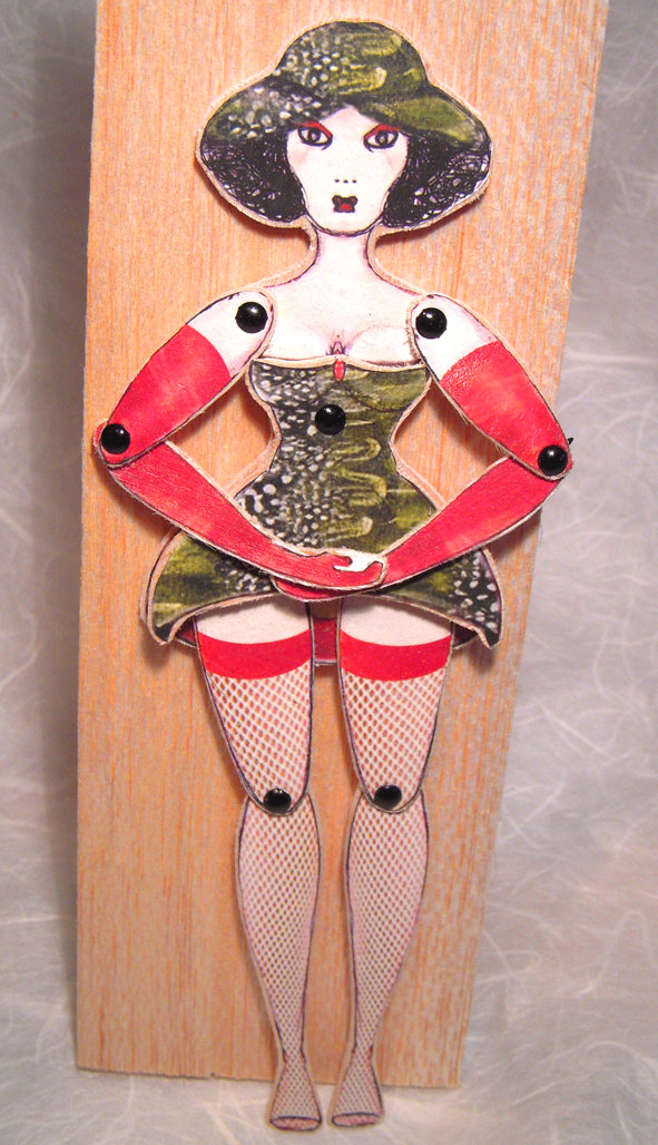 Saucy Wooden Burlesque Puppets