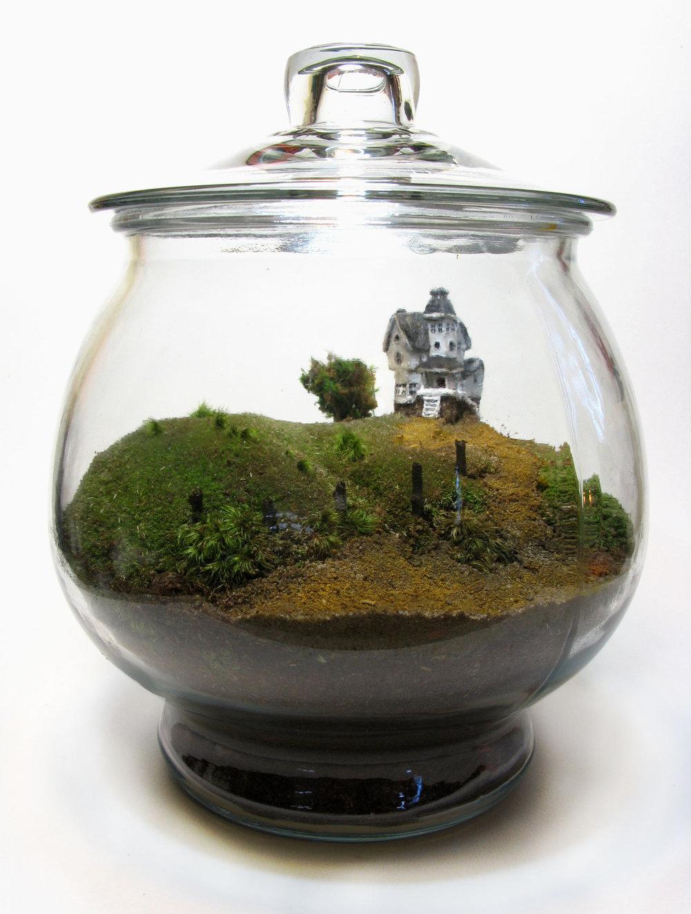 Miniature Beetlejuice House Terrarium