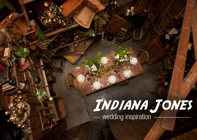 Indiana Jones Themed Wedding