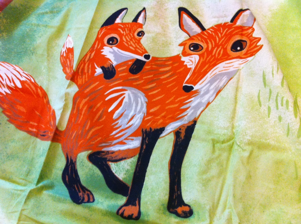 Ikea Fox Print Duvet Set