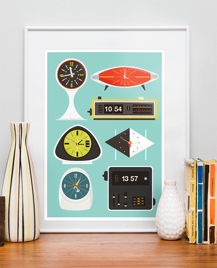 Mid-Centuary Eames-inspired Kitchen Prints