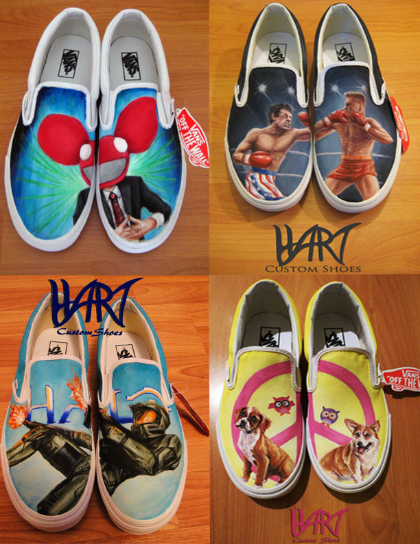Wear Your Heart on Your Sole. Gobsmackingly Artistic Custom Vans Trainers