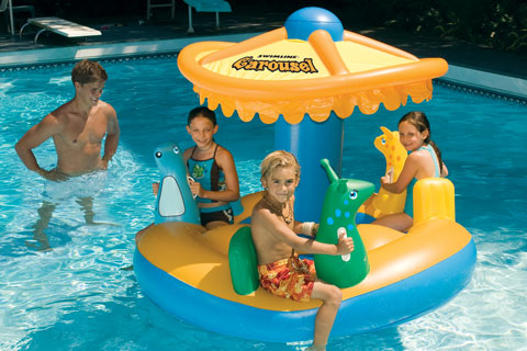 Giant Floating Pretzel & Other Wacky Pool Floats