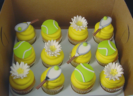 As Wimbledon Begins... Here are some Tennis Themed Cupcakes