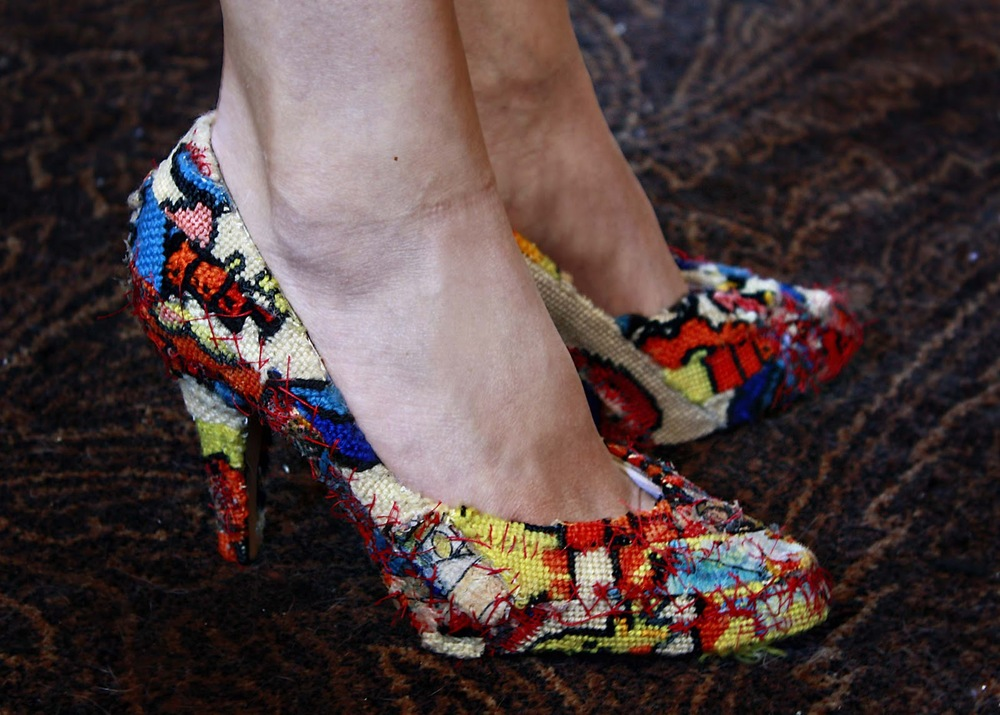Stunning Stained Glass Shoes