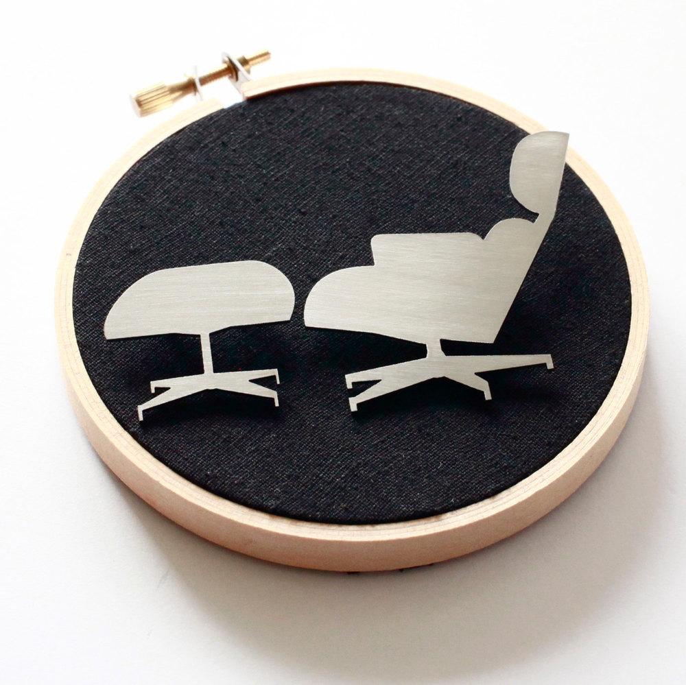 Eames Chair Brooch Set