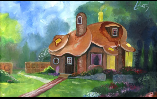 Whimsical Pancake Cottages