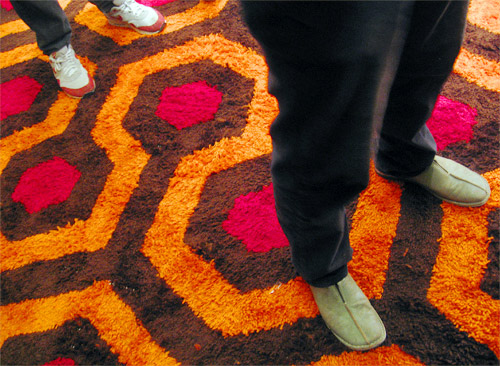 The Overlook Hotel Carpet Installation