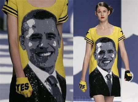 Obama Frock from Jean Charles de Castelbajac