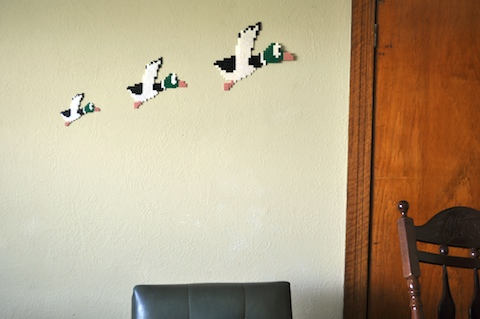 NES Version of Wall Plaque Flying Ducks
