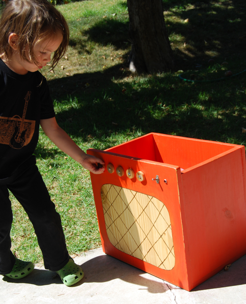 Orange Amp Toy Box
