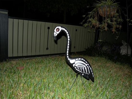 Lawn Flamingoes of DOOM!