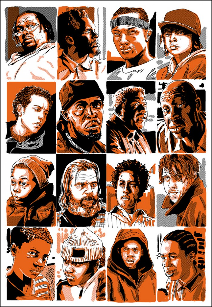 Comic Book Illustrations of The Wire