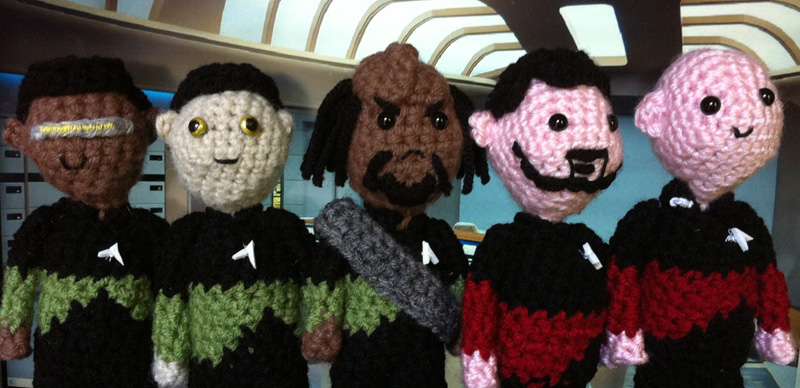 Knitted Doctor Who & Star Trek