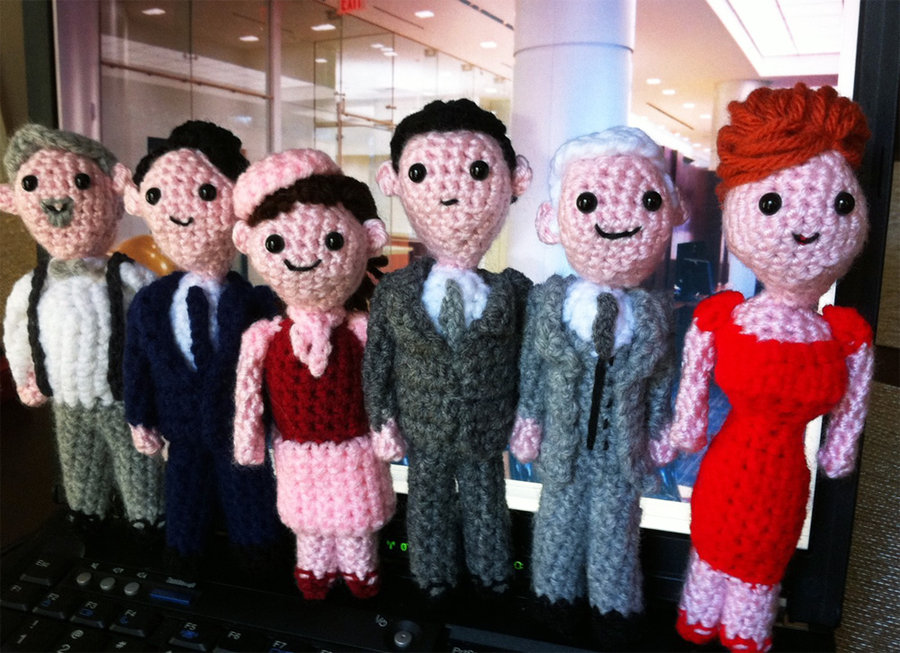 Knitted Mad Men
