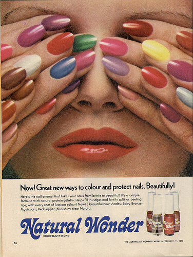 Glamorama, Magazine Make-Up Ads of Yesteryear
