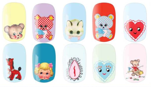 Cutesy Kitsch Nail Foils by Meadham Kirchhoff