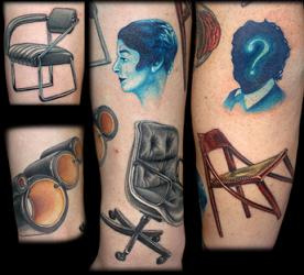 Eames' Chairs In Tattoo Form. Really.