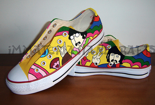 Amazing Beatles Art Converse