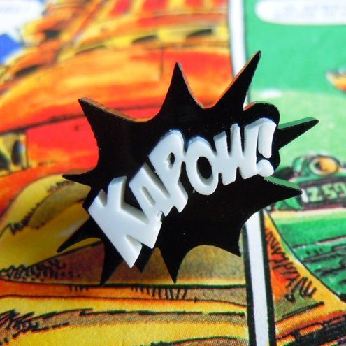 KAPOW! Comic Book Jewellery from Kitschensink