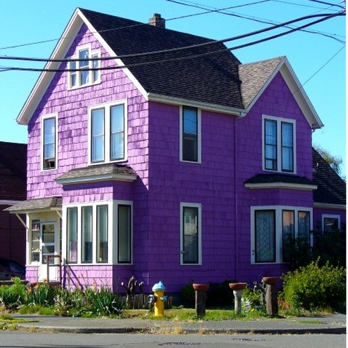 Purple houses the world of kitsch - Purple exterior paint image ...