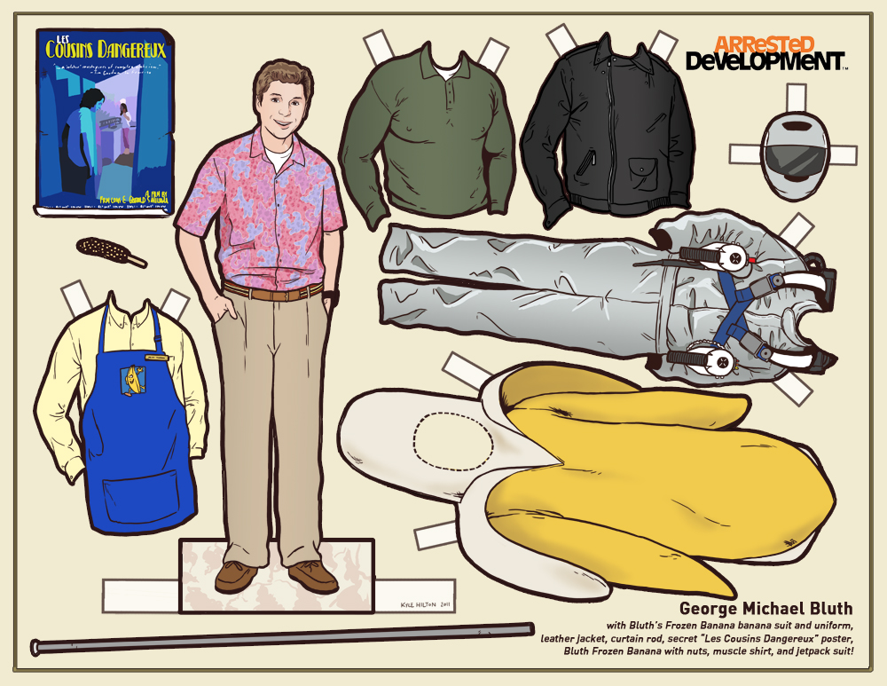 Arrested Development Paper Dressing Dolls