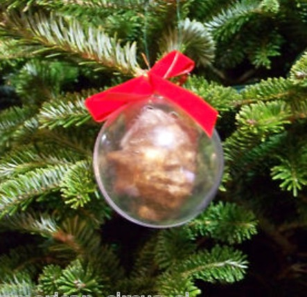 Genuine Skin Shrunken Head Christmas Tree Bauble