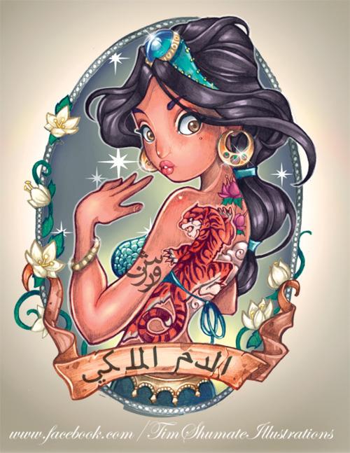 Tim Shuman's Tattooed Disney Princesses
