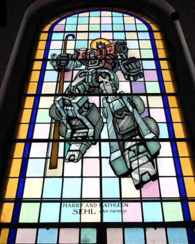 Transformers Stained Glass