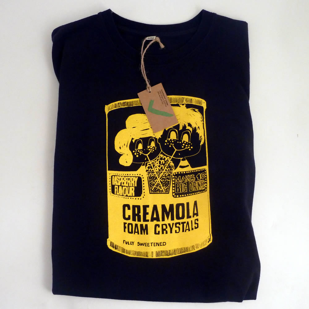 Creamola Foam Bags, Aprons, Mugs & Tees by Gillian Kyle