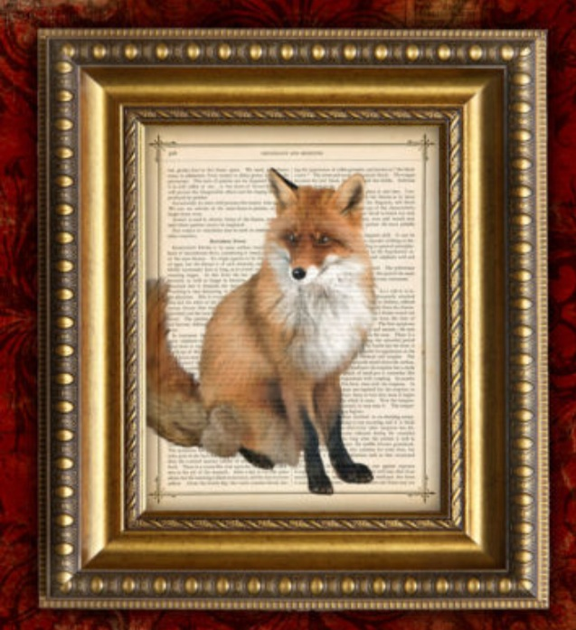Antique Fox Print Artwork