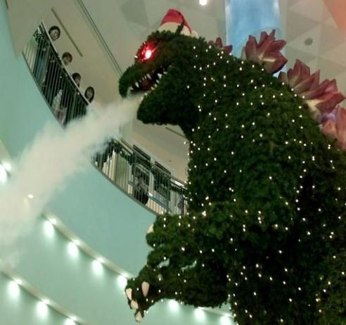 Godzilla Christmas Tree & other Unusual Festive Decor
