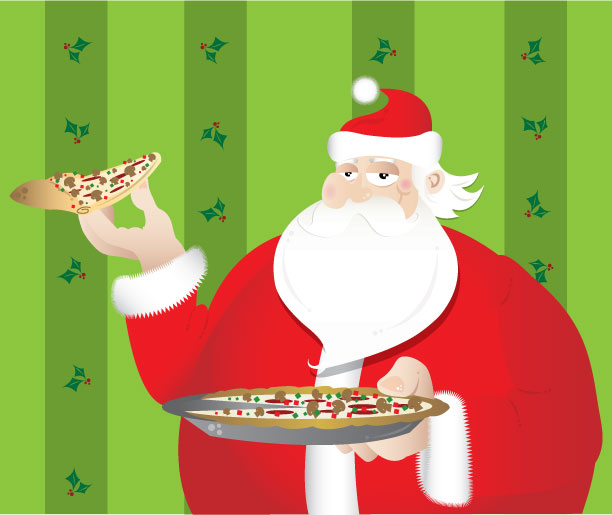 Christmas Pizzas