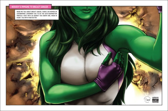 Marvel & DC Superheroines Encourage Women to Check for Breast Cancer