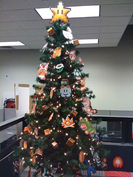 Nintendo & Mario Themed Christmas Tree