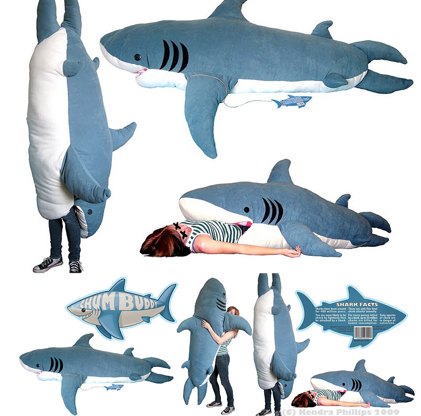 Shark Toys For Adults : Giant plush shark sleeping bag — the world of kitsch