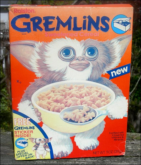 Gremlins Breakfast Cereal plus WIN an adult Gizmo the Gremlin Costume!