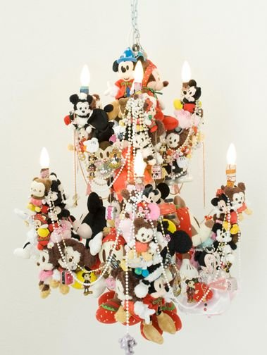 Crazy Chandeliers made from Plush Toys