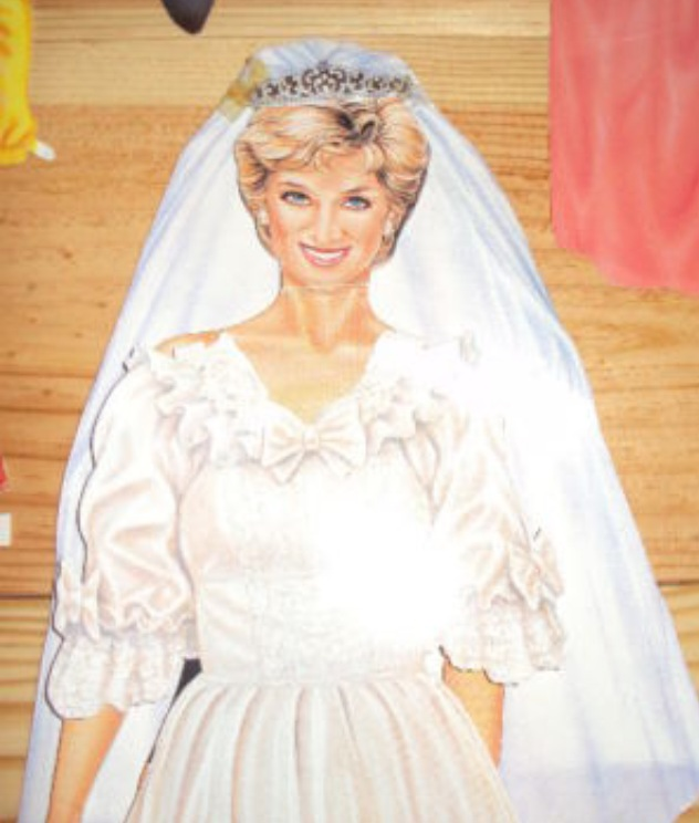 Princess Diana Paper Dressing Doll