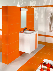 Orange Bathrooms