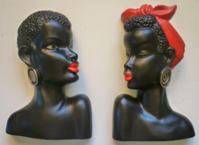 Exotic Chalkware Pin-ups